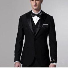 2017 Fashion men suit Tuxedos for men costume homme Black men's dress prom wedding suits for men Groom Wear mens stage wear