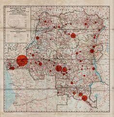 zaire map. neat colors