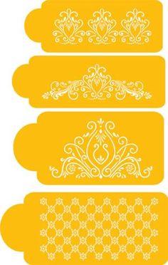 Designer Stencils Princess Lace Stencil Set: Amazon.co.uk: Kitchen & Home