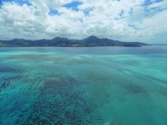 A helicopter tour of Mauritius