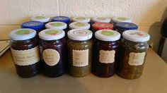 My favourite past time  making jams and relishes especially Nana's rhubarb relish