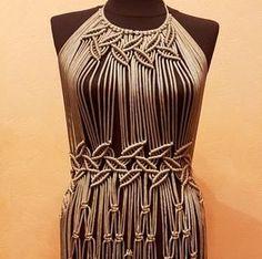 Macrame dress. Boho summer new style