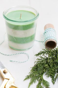 DIY Pine Scented Soy Candles - Sugar and Charm - sweet recipes - entertaining tips - lifestyle inspiration