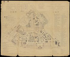 Plattegrond wereldtentoonstelling Antwerpen 1930.