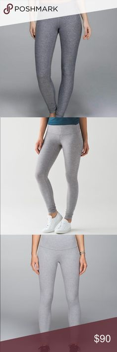 ✺Grey Lulu lemon leggings brand new. never worn, long tag removed as shown, very comfortable and great to workout in lululemon athletica Pants Leggings