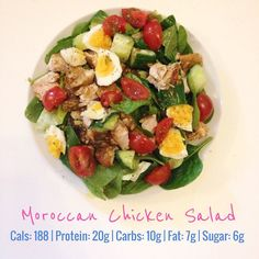 Been looking forward to this baby all morning  marinated chicken with spinach lettuce cucumber egg & cherry tomatoes. Delish!