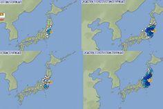 Dezenas de terremotos aconteceram na região nordeste do Japão em 3 dias