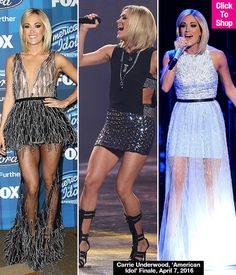 Carrie Underwood's 'American Idol' finale dresses were totally on point, as the hot mama, (and former 'Idol' winner!), rocked not one but two sexy, sheer gowns -- and we loved them both! She also showed off her toned legs in tiny shorts -- and all of her looks were so amazing we're having a hard time picking a fave! Which get-up did you love best?