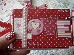 Valentine's TP Mini Scrapbook Album