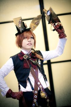 Steampunk AiW: March Hare by ~XiaoBai on deviantART