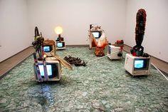 Wolf Vostell, Werke, 1960er Jahre (Auswahl) Nam June Paik, Wolf, John Cage, Fluxus, Ballet Dancers, Installation Art, Lighting Design, Screens, Collage