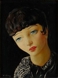 Girl with Blue Eyes by Moïse Kisling