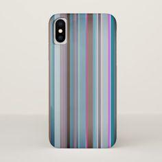 Classy Vertical Stripes iPhone X Case - chic design idea diy elegant beautiful stylish modern exclusive trendy