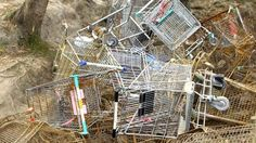 Image result for abandoned shopping trolley