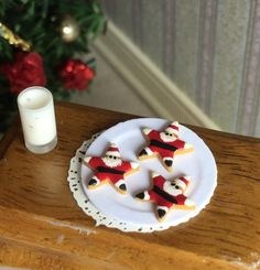 NEW 1/12th Scale Cut Out Santa Cookies for Your Dollhouse