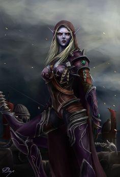 Sylvanas Windrunner - World of Warcraft - BfA by KiwiStarlin. - Sylvanas Windrunner – World of Warcraft – BfA by KiwiStarling Art Warcraft, World Of Warcraft 3, Star Citizen, Fantasy Women, Dark Fantasy Art, Fantasy Artwork, Final Fantasy, Fantasy Characters, Female Characters