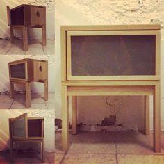 Jugando con madera...nueva adquisición para mi colección personal #workshop #woodworking #nightable #poplar #álamo
