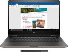 HP - Spectre Ultra HD Touch-Screen Laptop - Intel Core - Memory - SSD - HP finish in dark ash silver - Front_Zoom Samsung Notebook 9 Pro, Notebook Laptop, Hp Pavilion, Windows 10, Wifi, Bluetooth, Wireless Lan, Samsung Laptop, Asus Laptop