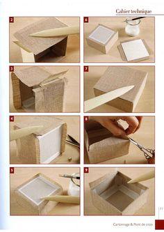 ru / Photo # 12 - Chiffoleau B., Trois N., Haccourt Vautier I. - Brode & C - WhiteAngel Diy Storage Boxes, Craft Storage, Paper Crafts Origami, Cardboard Crafts, Diy Craft Projects, Diy And Crafts, Fabric Boxes, Handmade Books, Diy Box