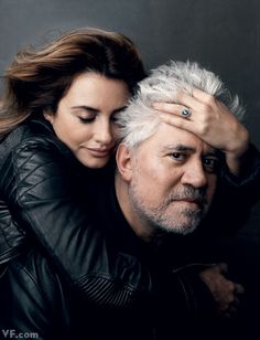 Pedro Almodóvar with Penélope Cruz   Four films together: Live Flesh (1997), All About My Mother (1999), Volver (2006), and Broken Embraces (2009)