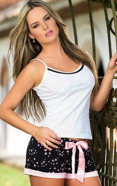 PIJAMAS y PIJAMAS NOCHES DE LUNA: VENTAS POR CATALOGO D´LUNAAS Babydoll Lingerie, Lingerie Sleepwear, Nightwear, Sexy Lingerie, Cute Pjs, Cute Pajamas, Lounge Outfit, Lounge Wear, Lazy Outfits