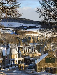 ~Winter in Pitlochry, Perthshire, Scotland~' Photograph: Murdo MacLeod for the Guardian