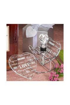 Print Heart Photo Coasters (Set of 2) - Alice Bridal