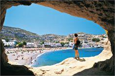 Crete beach cave