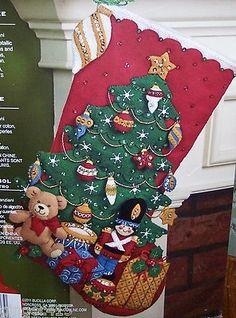 "Bucilla New Gifts ""Under The Tree"" Felt Christmas Stocking Kit Soldier Toys 18"" | eBay"
