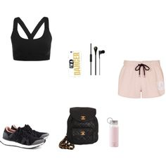 Workout Look! by julianaf121 on Polyvore featuring polyvore, fashion, style, Topshop, Ivy Park, adidas, Chanel, Kate Spade, MCM and clothing