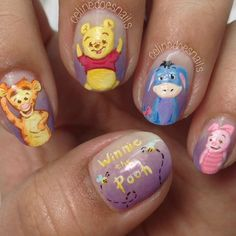 """""""isn't Winnie the Pooh just the cutest? I was inspired to do these after seeing @nailartexpress's cute Pooh and Eeyore all hand painted over a gradient base of @opi_products """"Planks a Lot"""""""" Photo taken by @celinedoesnails on Instagram, pinned via the InstaPin iOS App! http://www.instapinapp.com (05/03/2015)"""