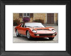Lamborghini Miura P400S as Photographic Prints, Framed and Canvas Prints from Car Photo Library, Lamborghini, The Car Photo Library