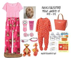 """Aurora - Babysitting Melody"" by disneyfashioneveryday ❤ liked on Polyvore featuring Carter's, Gerber, Elodie, H&M, UGG Australia, Clarisonic, Bling Jewelry, Marc by Marc Jacobs and Disney"