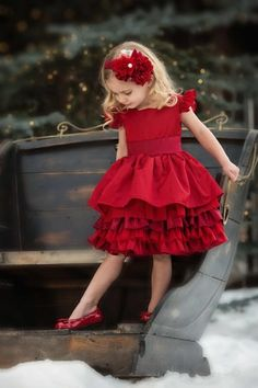 Persnickety Holiday 2013 Loralei Holiday Dress Preorder 12 Months to 12 Years Accessories Available Too! - Persnickety Clothing Company