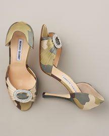 Manolo Blahnik Sedarby Camo Print d Orsay Manolo Blahnik Bergdorf Goodman - Stylehive