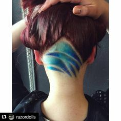 """Abstract hairtattoo made @razordolls #hairtattoo #shavings #hairtattoos #hairdesign#razordollssalon #manicpanic"""