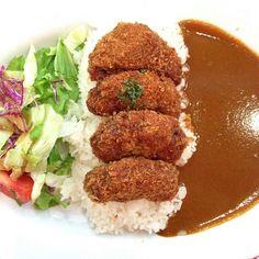 Menshi katsu curry rice.