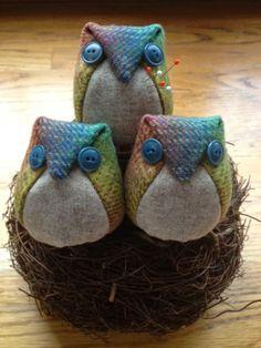 Rhonda's Creative Life: Owls as pattern weights!