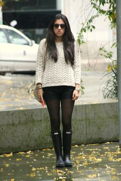 Carla looks yummy with her Wellingtons on