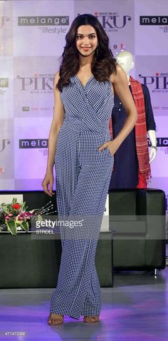 Indian Bollywood actress Deepika Padukone poses during a promotional...
