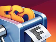 FontSieve Mac App #Icon Design