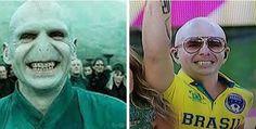 El inquietante parecido entre Pitbull y Voldemort