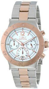 Invicta Women's 15113 Specialty Chronograph 18k Rose Gold Ion Plating and Stainless Steel Two-Tone Watch