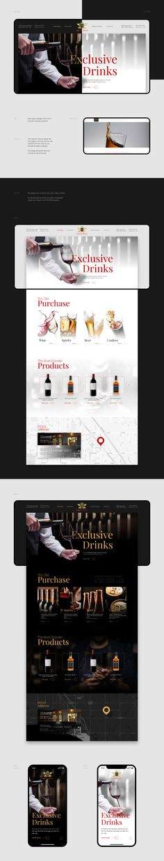 Vlad 🔥 Patana on Behance Liquor Shop, Brush Cleanser, Main Page, Jobs Apps, Alcoholic Drinks, Behance, Photoshop, Digital, Liquor Drinks