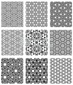 Simple Islamic Patterns | Islamic geometric patterns simple
