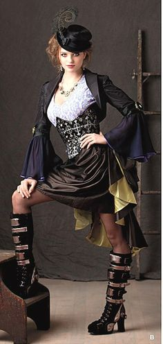 Steampunk Gothic Costume by BouChicDressmakers on Etsy, $159.99 #renratsguide