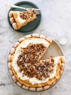 Pumpkin Tiramisu. It's a pie. It's a cake. It's delish | foodiecrush.com