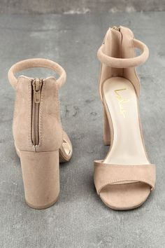 3e1283d8a1 Suede Heels, Ankle Strap Heels, Toe Band, Kinds Of Shoes, Ballet Shoes