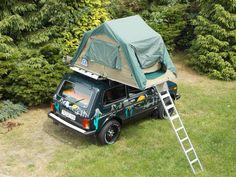 LADA Niva CAMP mit Dachzelt – Ansicht von oben | #> https://de.pinterest.com/ferroufly/lada-niva/