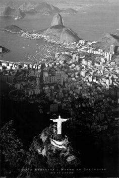 Cristo Redentor, até em preto e branco esse lugar é magico. Orgulho de ser carioca!!!